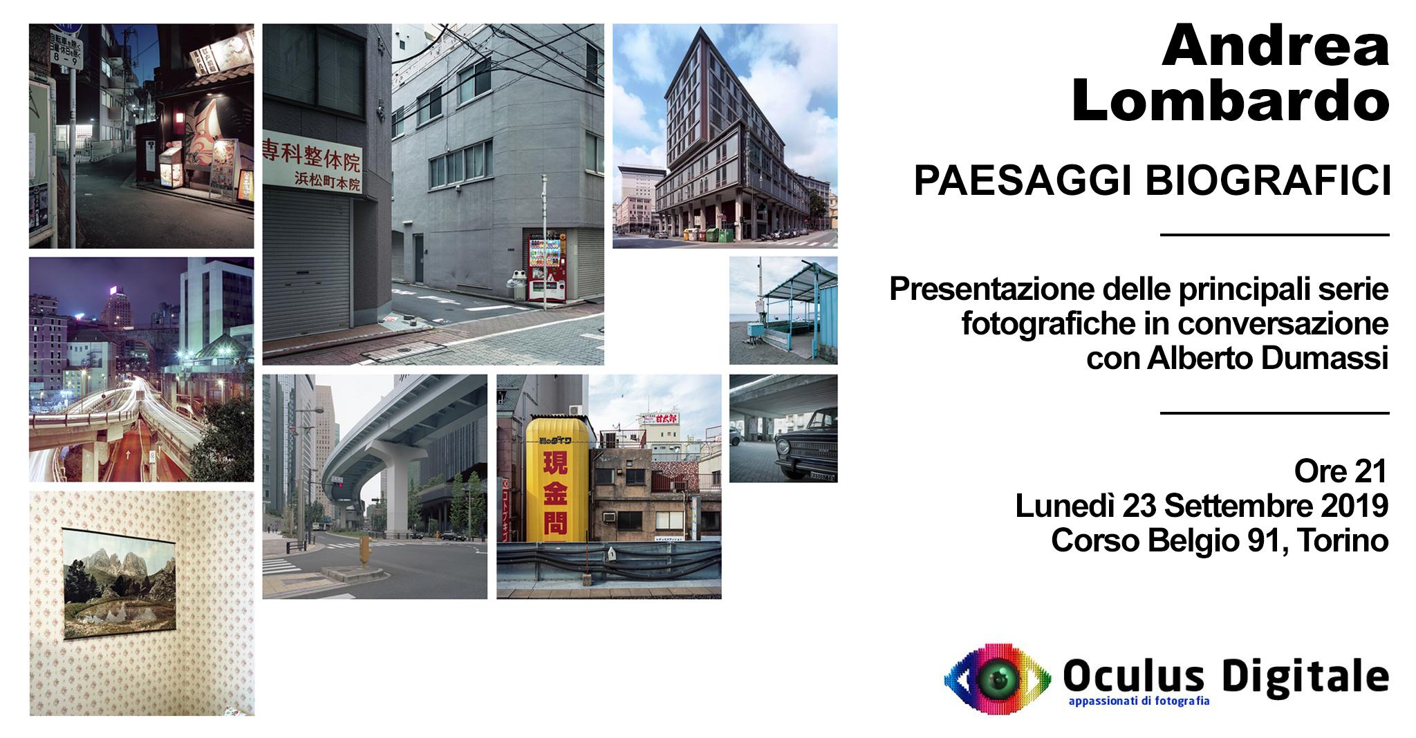 Andrea Lombardo - Paesaggi biografici  ore 21 presso Oculus Digitale Corso Belgio, 91 Torino
